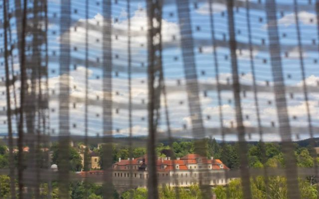 Výhled na Rychnovský zámek z Penzionu Jana Červinková